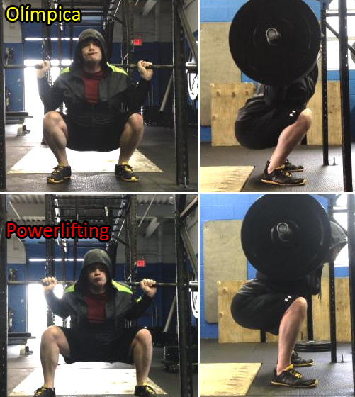 powerlifting olympic squat sentadilla olímpica y powerlfiter